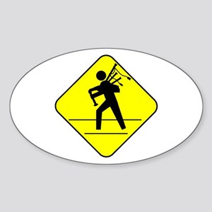 Piper Crossing Oval Sticker