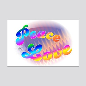 Peace & Love Mini Poster Print