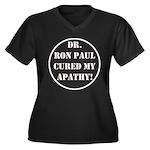 Ron Paul cure-2 Women's Plus Size V-Neck Dark T-Sh
