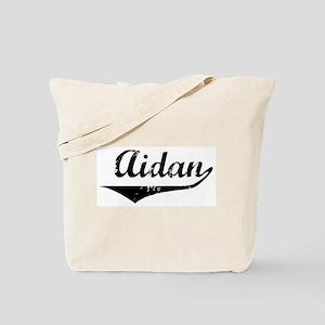 Aidan Vintage (Black) Tote Bag