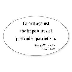 George Washington 17 Oval Decal