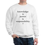 284b. knowledge is power is r..?eponsibility Sweat