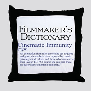 Cinematic Immunity Throw Pillow