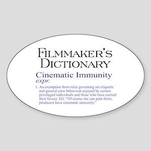 Cinematic Immunity Oval Sticker