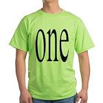 289. one. .  Green T-Shirt