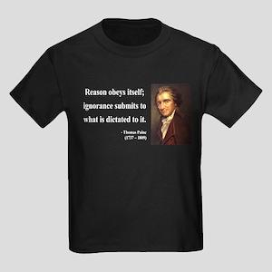 Thomas Paine 23 Kids Dark T-Shirt