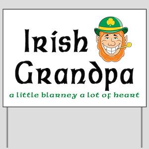 Irish Grandpa Yard Sign