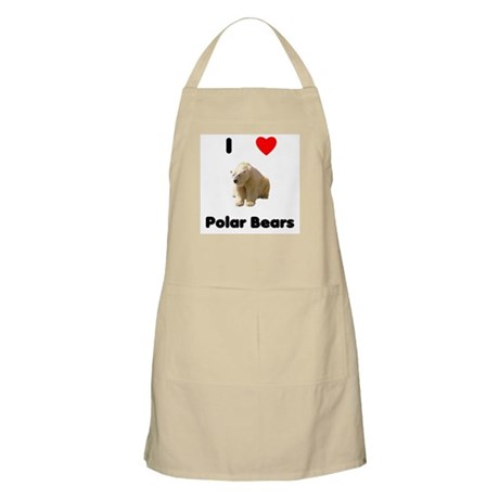 I Love Polar Bears BBQ Apron