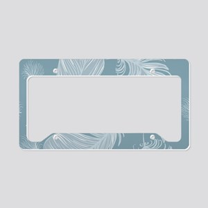 Beautiful Feathers License Plate Holder