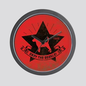 Obey the BEAGLE! Propaganda Wall Clock