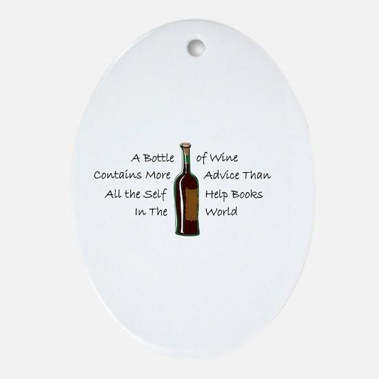 Wine - Self Help Oval Ornament