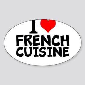 I Love French Cuisine Sticker