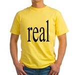 286. real. .  Yellow T-Shirt