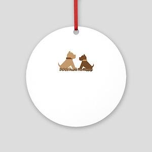 dogs make me happy Round Ornament