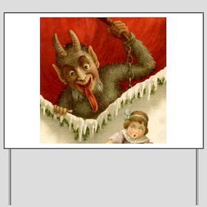 Christmas Krampus DEVIL &Girl Party Yard Sign