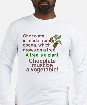 Cute Chocolate Long Sleeve T-Shirt