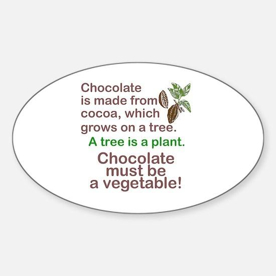 Funny Chocolate Sticker (Oval)