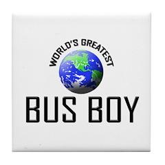 World's Greatest BUS BOY Tile Coaster
