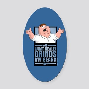 family guy grinds my Oval Car Magnet