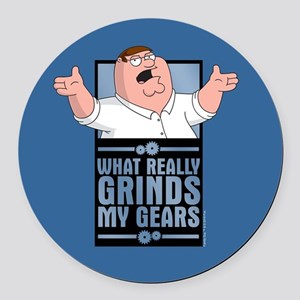 family guy grinds my Round Car Magnet