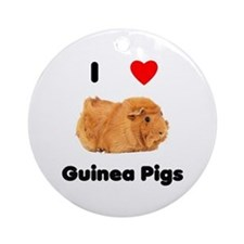 I love guinea pigs Ornament (Round)
