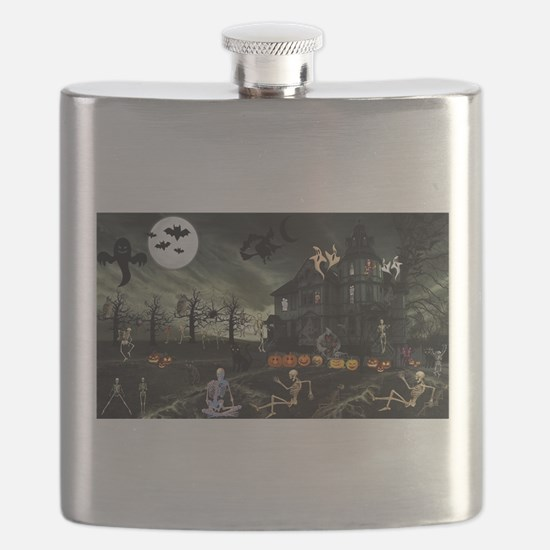 Skeleton Graveyard Flask