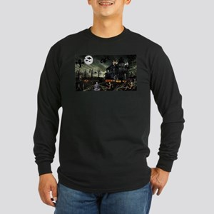 Skeleton Graveyard Long Sleeve T-Shirt