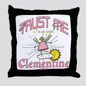 Angelic Clementine Throw Pillow