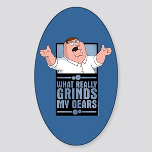 family guy grinds my Sticker (Oval)