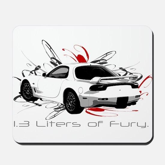 """1.3 Liters of Fury."" Mousepad"