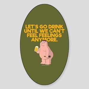 Family Guy Go Drink Sticker (Oval)