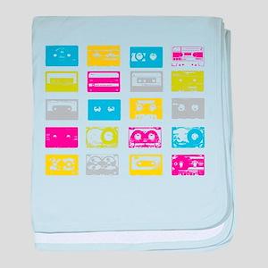 80's Cassettes baby blanket