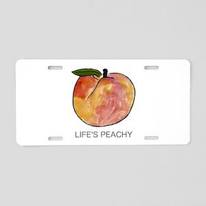 Life's Peachy Aluminum License Plate