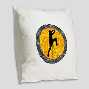 CLIMB Burlap Throw Pillow