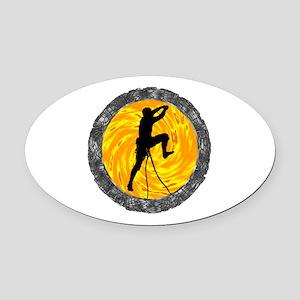CLIMB Oval Car Magnet