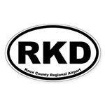 Knox County Regional Airport Oval Sticker