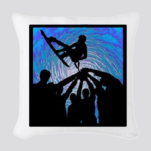 WAKEBOARD Woven Throw Pillow