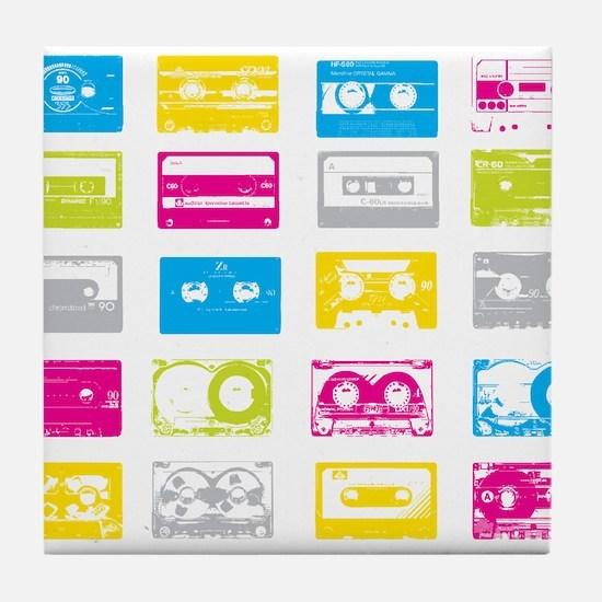 80's Cassettes Tile Coaster
