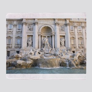 Trevi Fountain Throw Blanket
