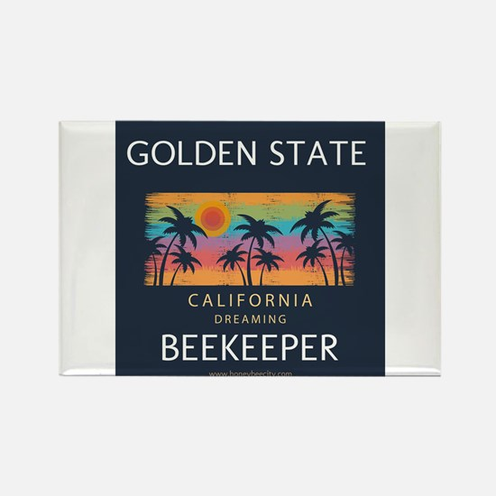 California Beekeeper Rectangle Magnet Magnets