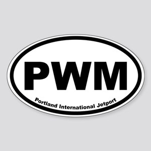 Portland International Jetport Oval Sticker