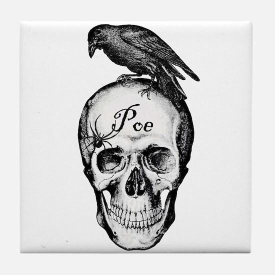 Raven Poe Tile Coaster