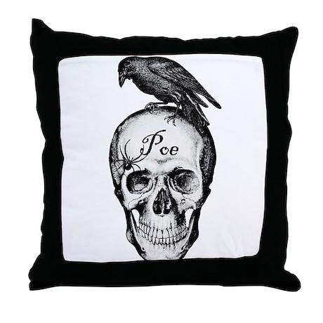 Raven Poe Throw Pillow