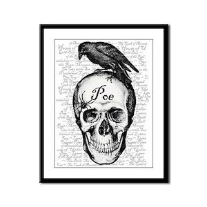 Raven Poe Framed Panel Print