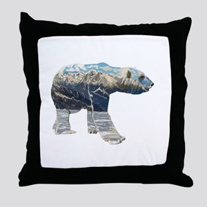 Tundar Polar Bear Throw Pillow