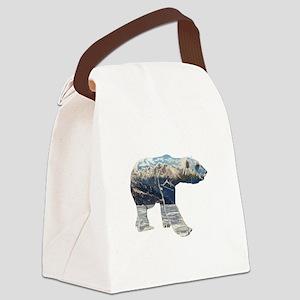 Tundar Polar Bear Canvas Lunch Bag
