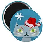CHRISTMAS KITTY Magnet