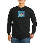 CHRISTMAS KITTY Long Sleeve Dark T-Shirt