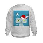 CHRISTMAS KITTY Kids Sweatshirt