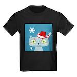 CHRISTMAS KITTY Kids Dark T-Shirt